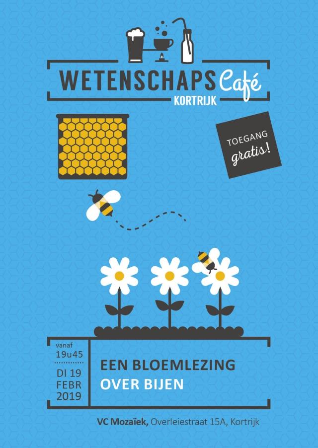 e-flyer wetenschapscafé Bijen Kortrijk